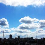 真夏の空 積雲